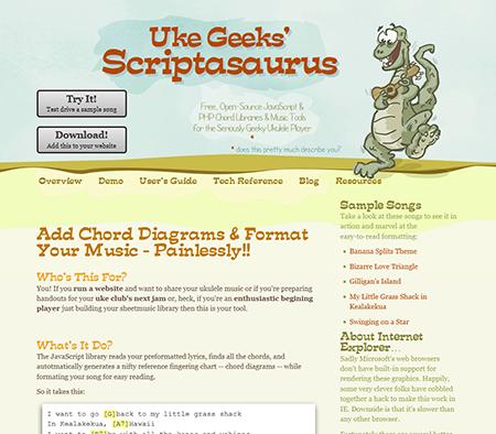 UkeGeeks' Scriptasaurus Old Website Snapshot