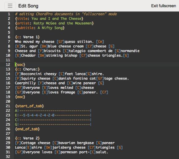 song-a-matic-editing-fullscreen-syntax-highligting